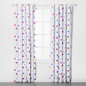 Pillowfort Dot Blackout Curtain Panel Set